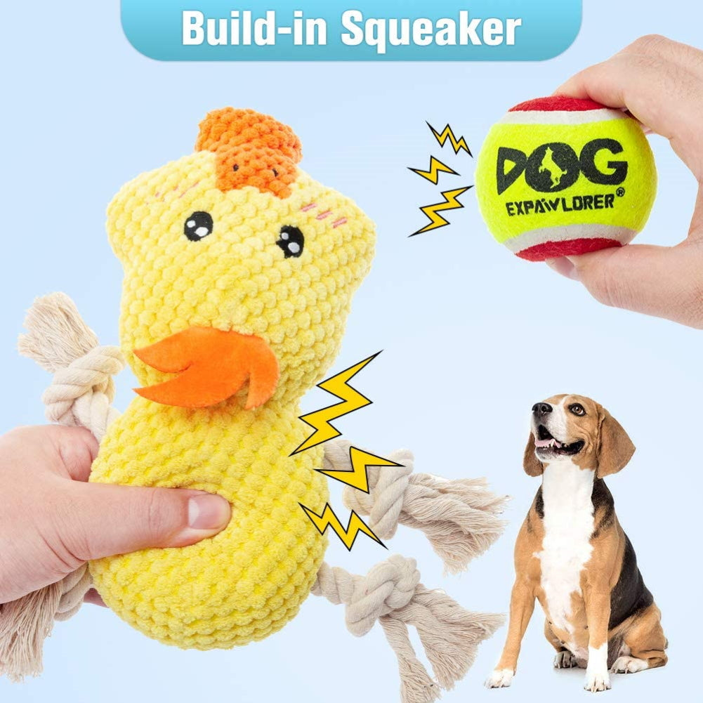 Chew Toys Cute Duck Shape Rope Toys