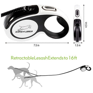 Dual Retractable Dog Leash - 16ft - 360°-80 lbs Each