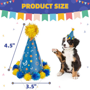 Dogs Cats Party Cone Hat Pet Cap 6 Pack - Cute Accessories