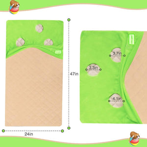 Guinea Pig Fleece Cage Liners with Pocket Hideout