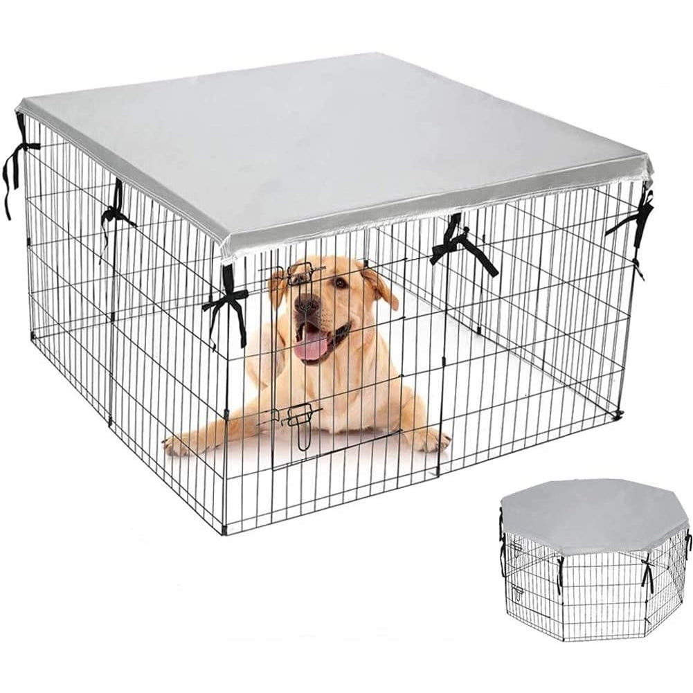 Double Side Dog Playpen Cover- Sun-Proof & Water-Proof Top