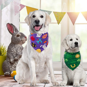 Cute Dog Bandana for St. Patrick Day/April Fools' Day/Easter, 3 Pack