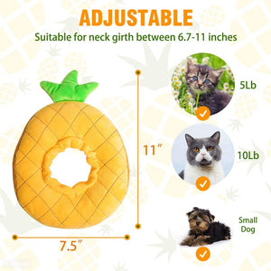 Cute Pineapple Cat Adjustable Recovery Collar