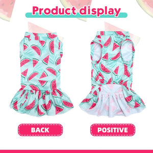 Cooling Dog Dress for Small Dogs for Summer, Girl Dog Apparel