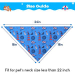 Load image into Gallery viewer, Dog Bandanas 2 Pack - Ocean Style Dog Triangle Scarf Bibs
