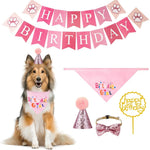 Load image into Gallery viewer, Pet Birthday Bandana with Hat Set  for Girl