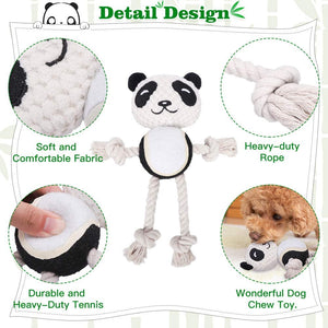 Dog Rope Toy - Cute Panda and Pig Dog Chew Toys