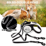 Load image into Gallery viewer, Dual Retractable Dog Leash - 16ft - 360°-80 lbs Each