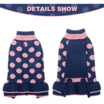 Load image into Gallery viewer, Puppy Sweater Dress - Polka Dot Turtleneck Knitwear Skirt for Small Dogs