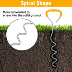 Load image into Gallery viewer, Dog Tie Out Cable and Stake with Anti-Rust Spiral Ground Anchor