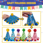 Load image into Gallery viewer, Dogs Cats Party Cone Hat Pet Cap 6 Pack - Cute Accessories