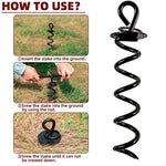 Load image into Gallery viewer, Dog Tie-Out Stake Heavy Duty - Anti-Rust Spiral Ground Anchor with Iron Handle for Large Dog