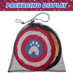 Load image into Gallery viewer, Dog Frisbee Interactive Toys-Bat and Footprints Pattern