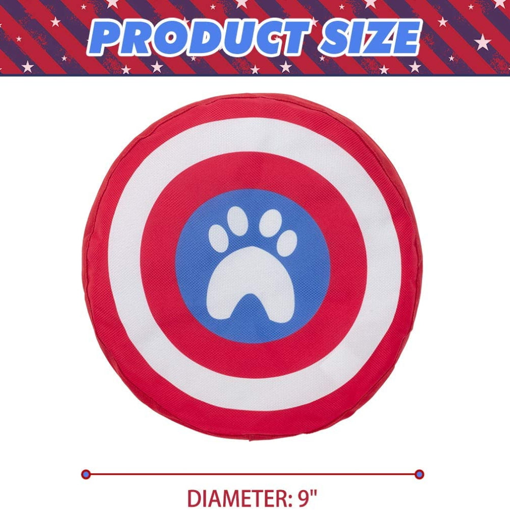 Dog Frisbee Interactive Toys-Bat and Footprints Pattern