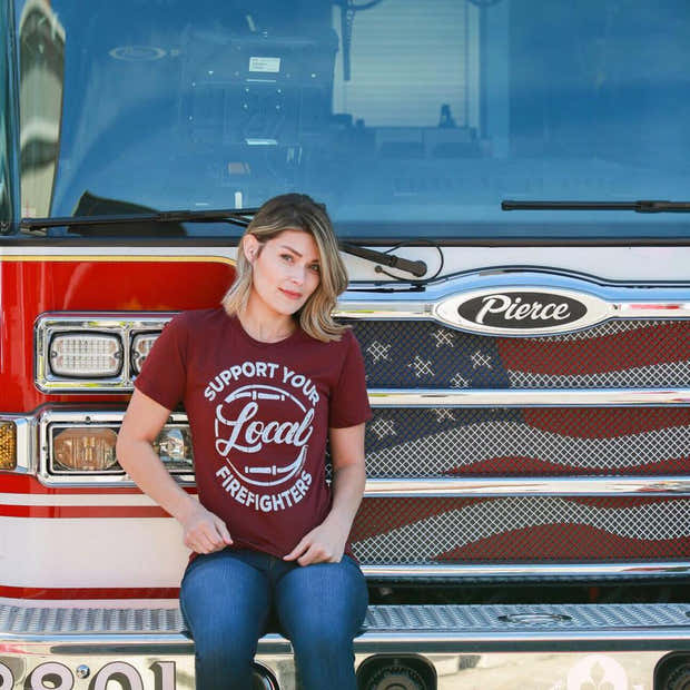 SUPPORT LOCAL FIREFIGHTERS Graphic Tee 1
