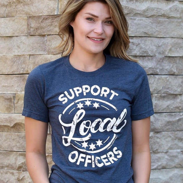 SUPPORT LOCAL OFFICERS Graphic Tee 1