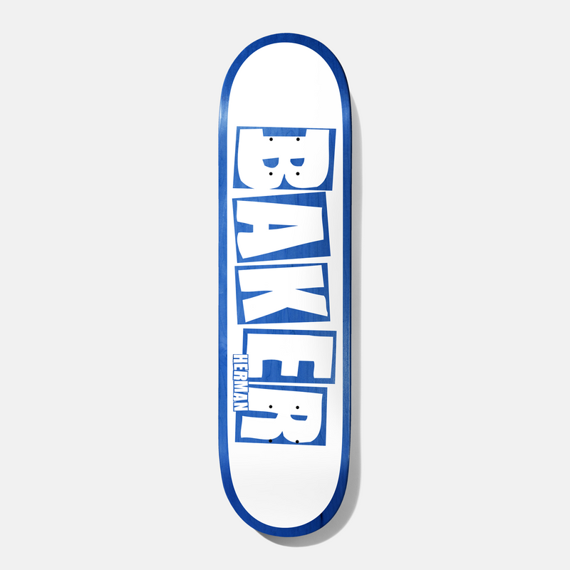 Herman Brand Name White/Blue 8.0