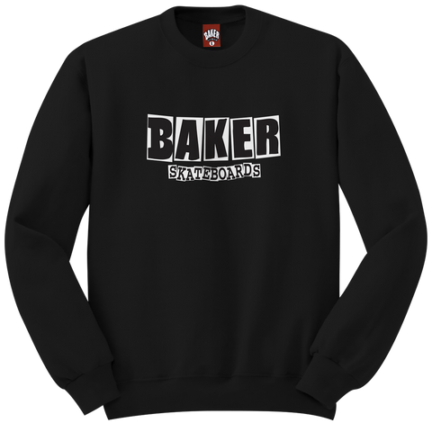 Brand Logo Crew Neck Black