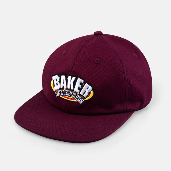 Oval Arch Strapback Maroon