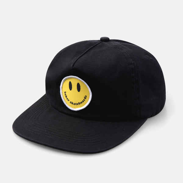 Smiley Snapback Black