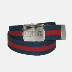 Brand Logo Web Belt Blue/Red