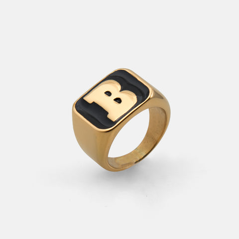 Capital B Ring Gold/Black