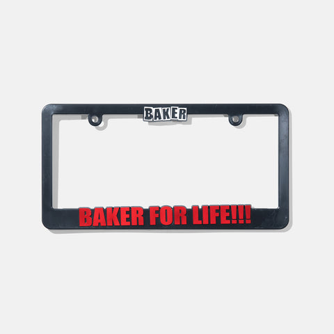 Baker For Life License Plate Frame
