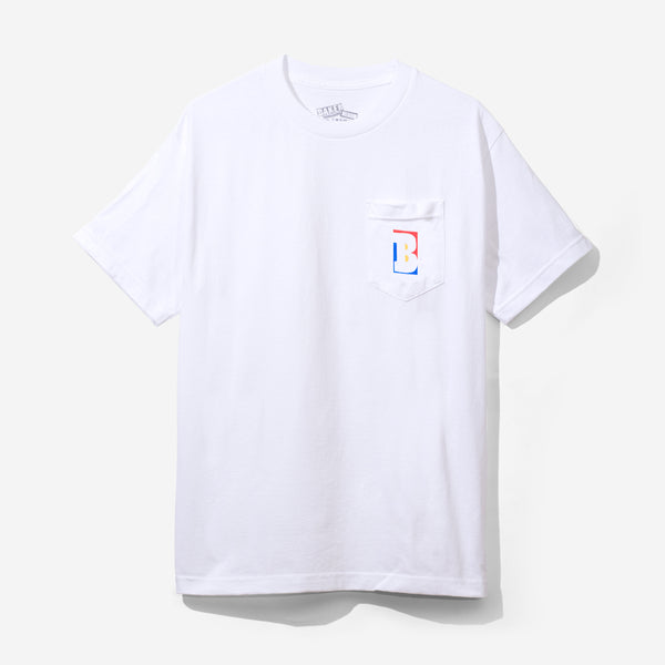 Capital B Pocket Tee White