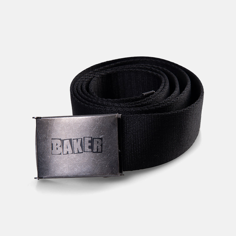 Brand Logo Web Belt Black