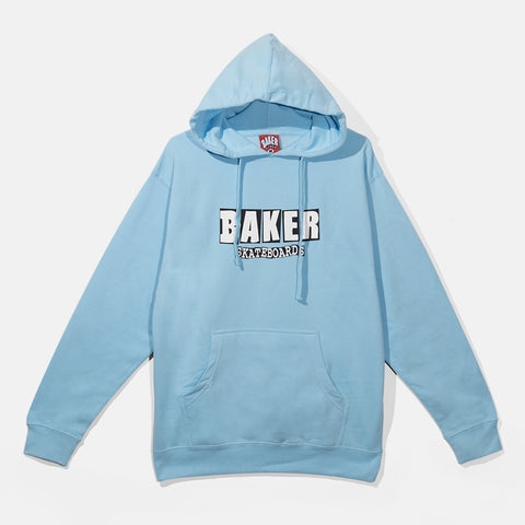 Brand Logo Light Blue Pullover