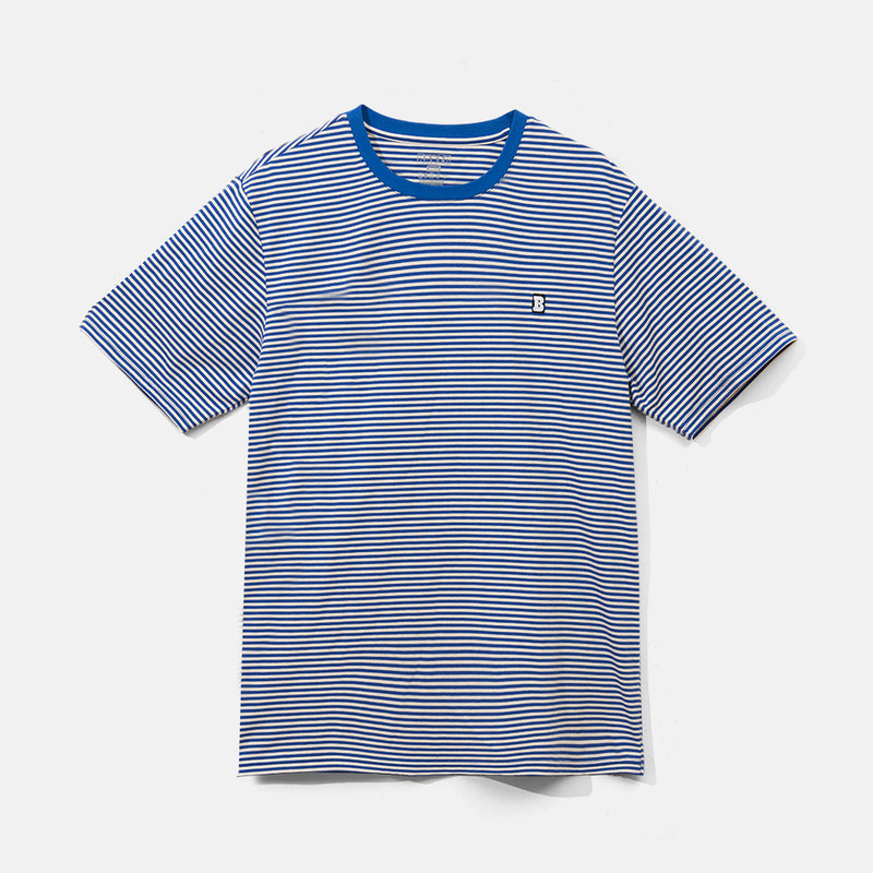 Capital B Blue Stripe Tee