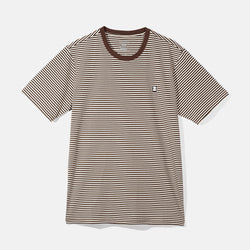 Capital B Striped Tee Brown
