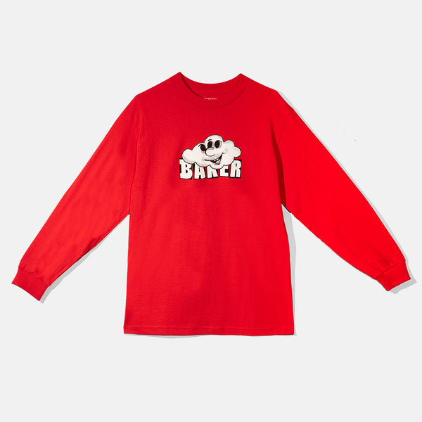 Cloud 3 Red L/S Tee