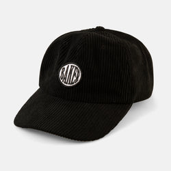 Nautical Black Corduroy Snapback