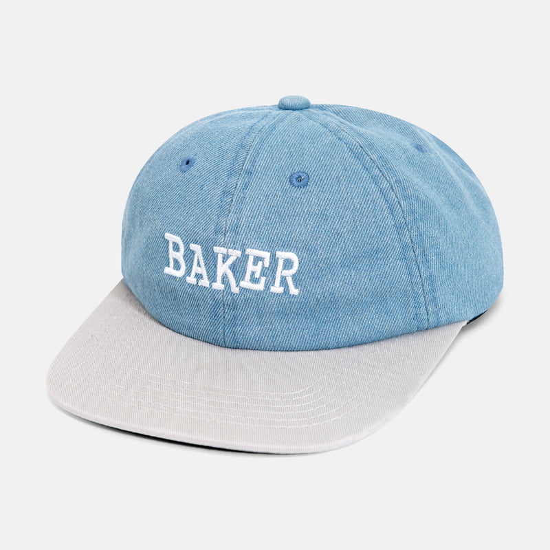 RIBBON SNAPBACK DENIM/GREY