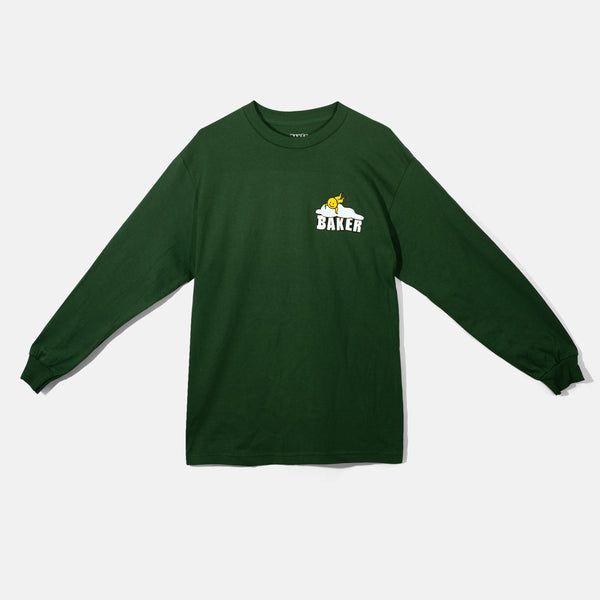 Picnic Head Forest Green L/S Tee