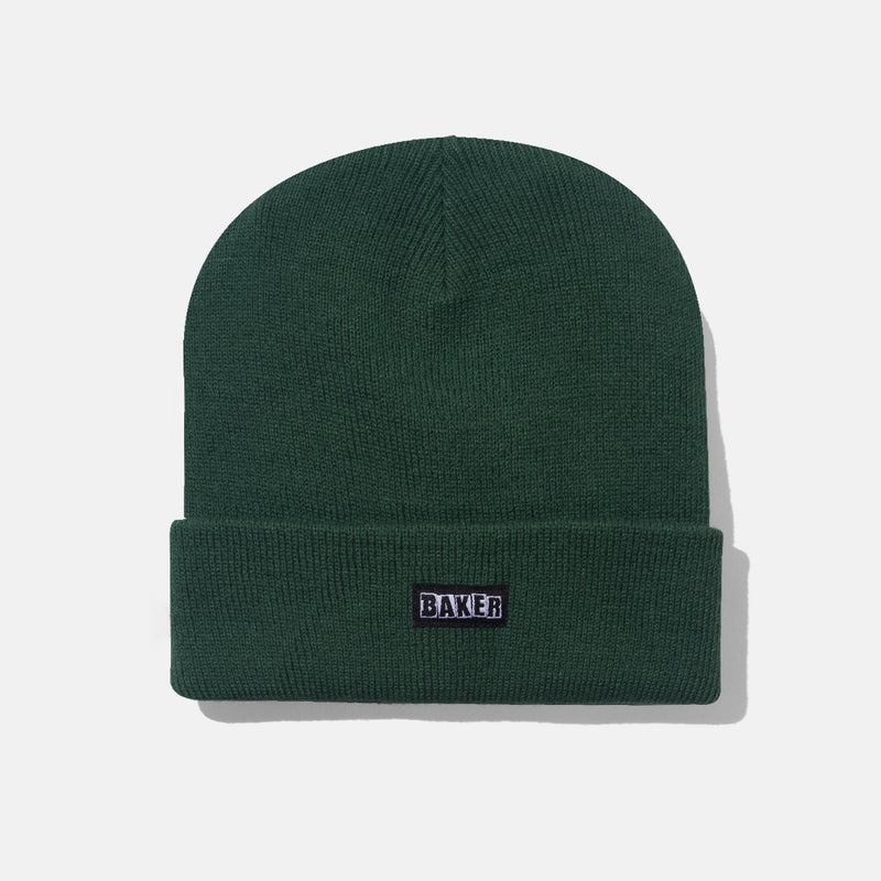 BRAND LOGO BEANIE HUNTER GREEN