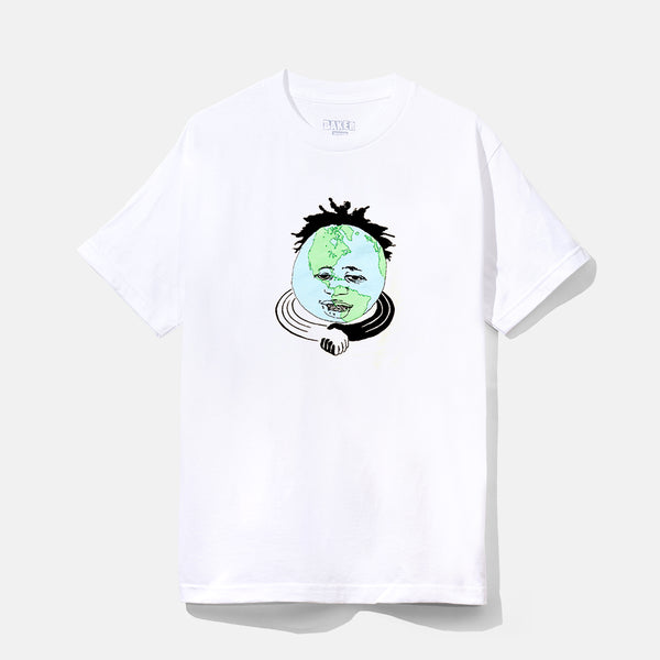 KADER'S WORLD TEE WHITE