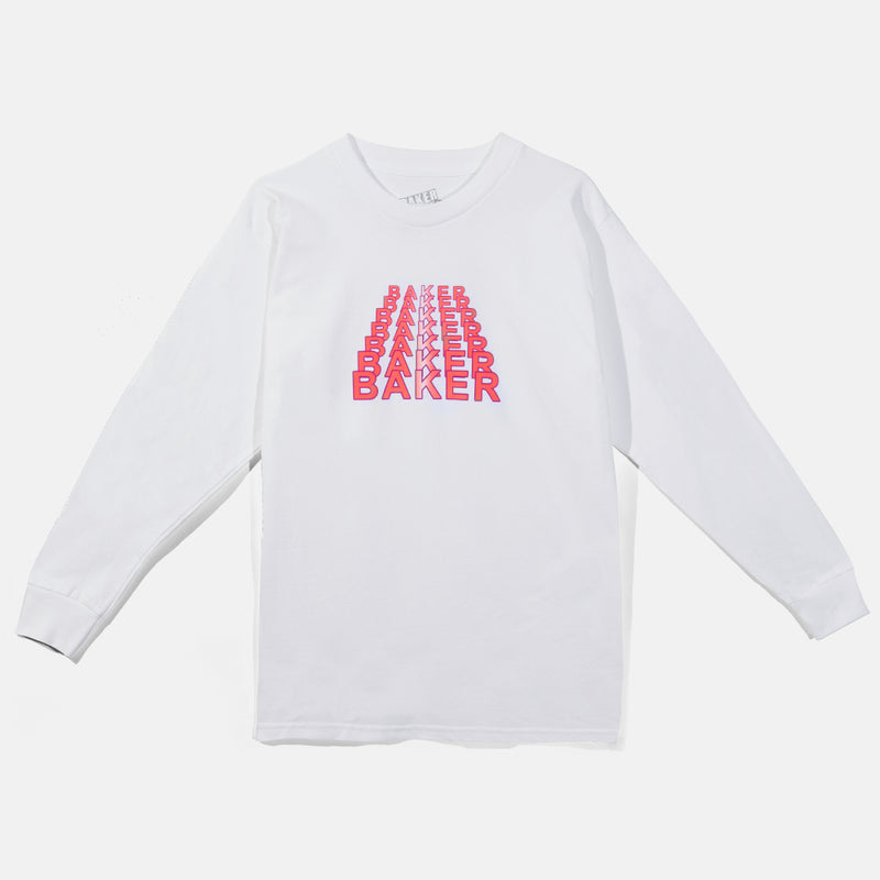 Kansas Long Sleeve Tee White/Red
