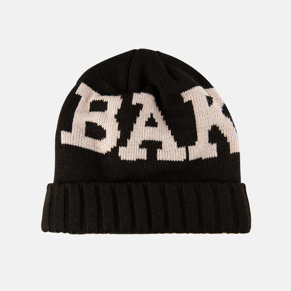 Ribbon Beanie Black