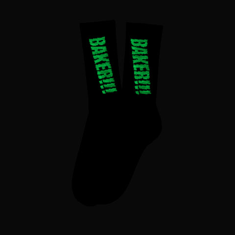 Screamer Socks Black / Glow in the Dark
