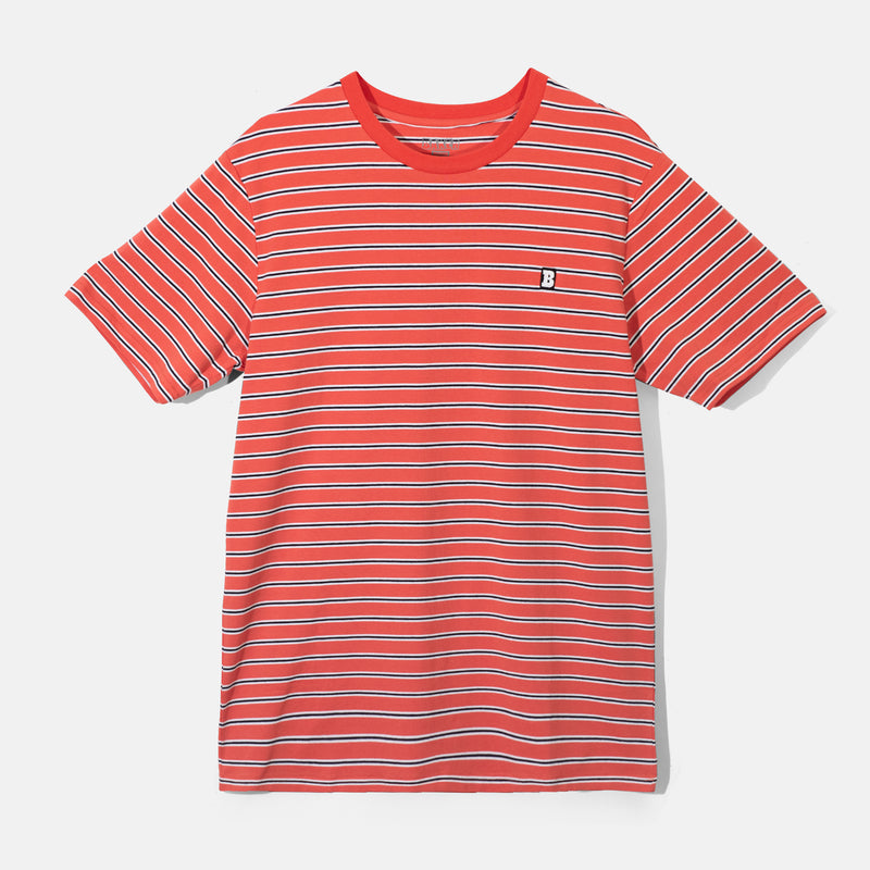 Capital B Red Stripe Tee