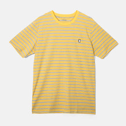 Capital B Yellow Stripe Tee