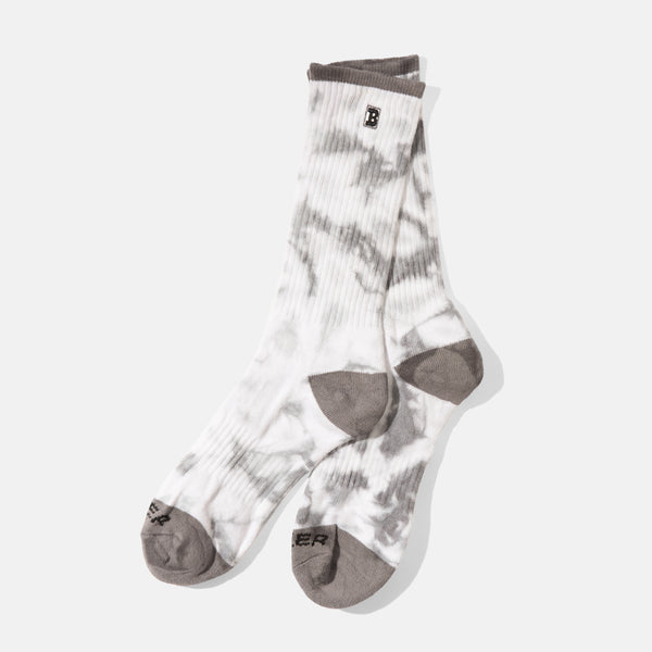 Capital B Sock Grey Tie-Dye