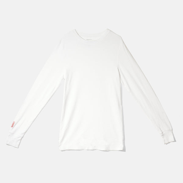 Brand Logo Long Sleeve Thermal WHite