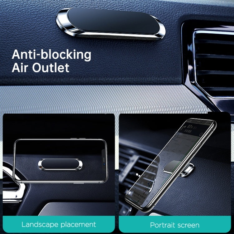 84 E-STORE | JOYROOM JR-ZS217 Mini Metal Sticky Car Magnetic Wireless Charger Mobile Phone Holder