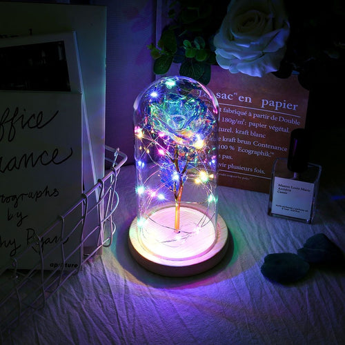 Glass Dome LED Rose