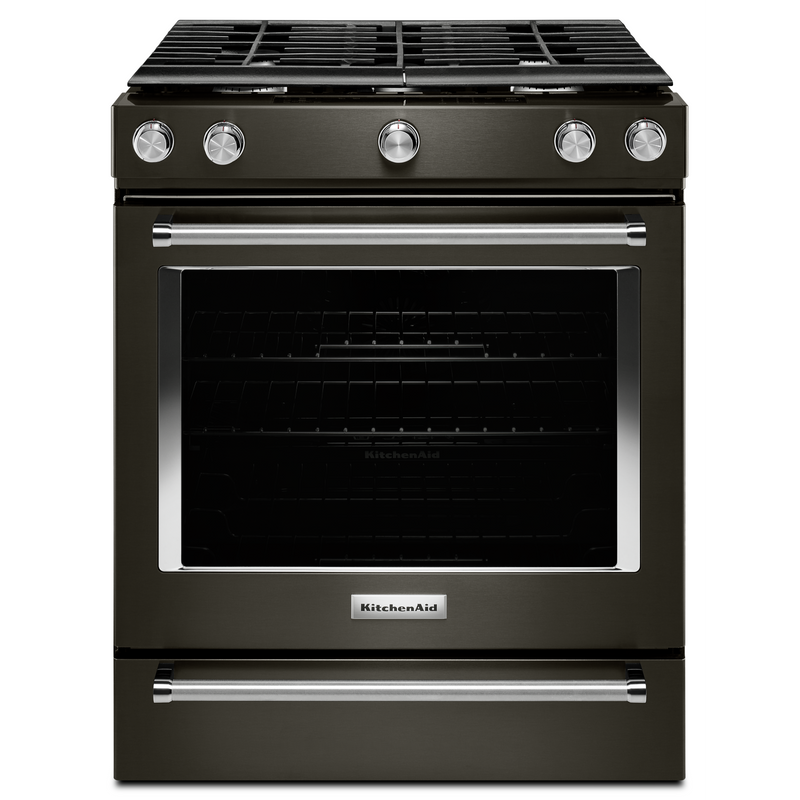 30-Inch 5-Burner Gas Convection Front Control Range KSGG700ESS