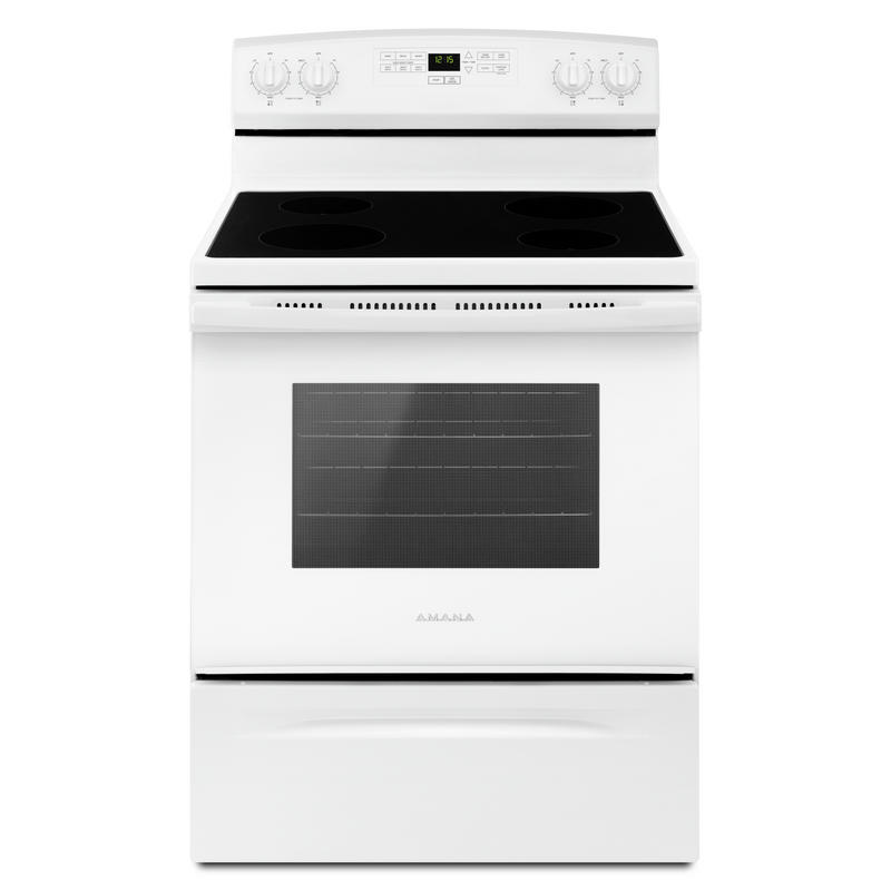 30-inch Amana® Electric Range with Extra-Large Oven Window YAER6303MFW