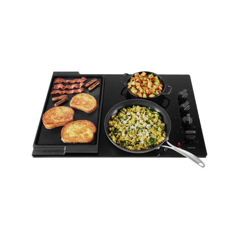 30-Inch Electric Cooktop with Reversible Grill and Griddle MEC8830HB